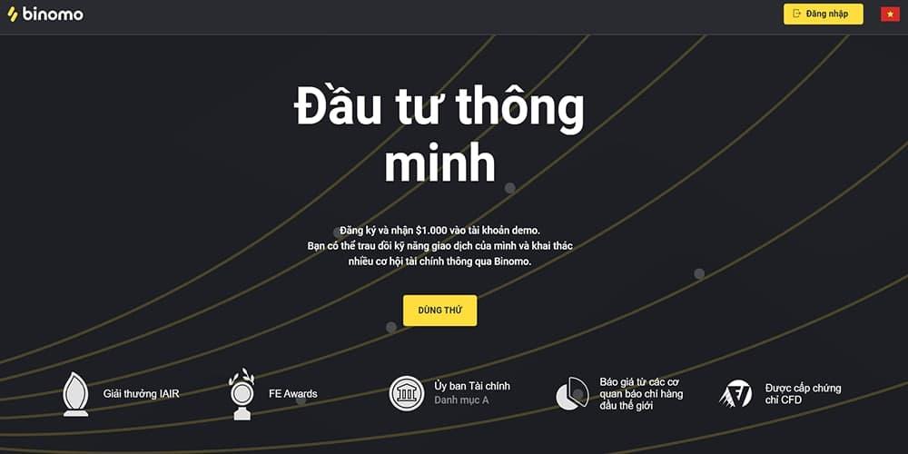 binomo quảng cáo