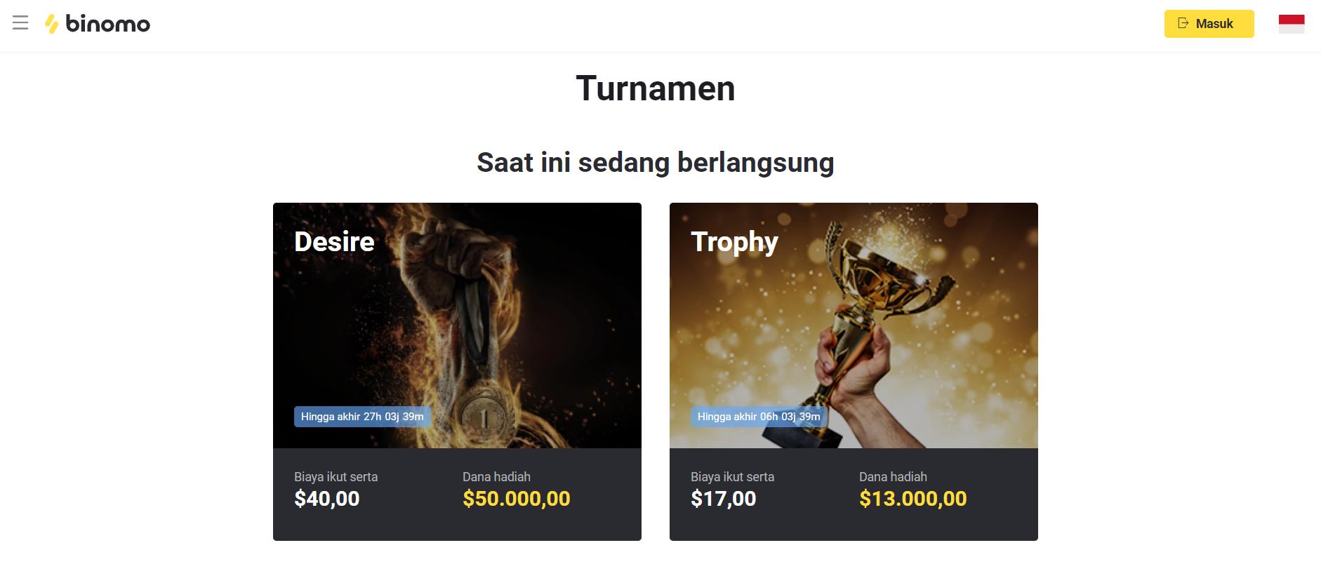 binomo tournaments indonesia