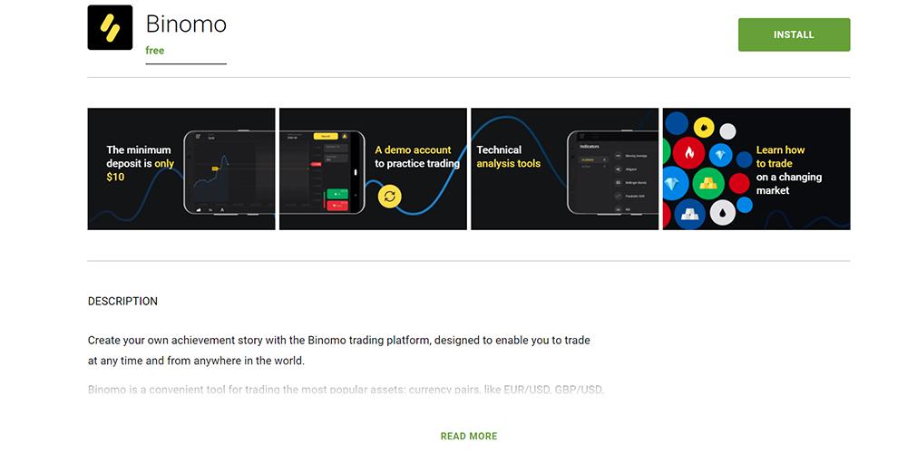 download binomo app